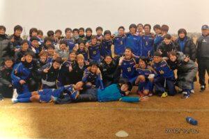 長崎大学全学サッカー部での最後の試合での集合写真